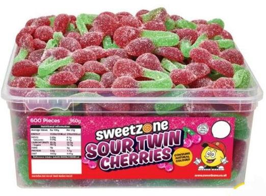Sweetzone Sour Twin Cherries Tub