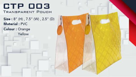 CTP 003 - Transparent Pouch
