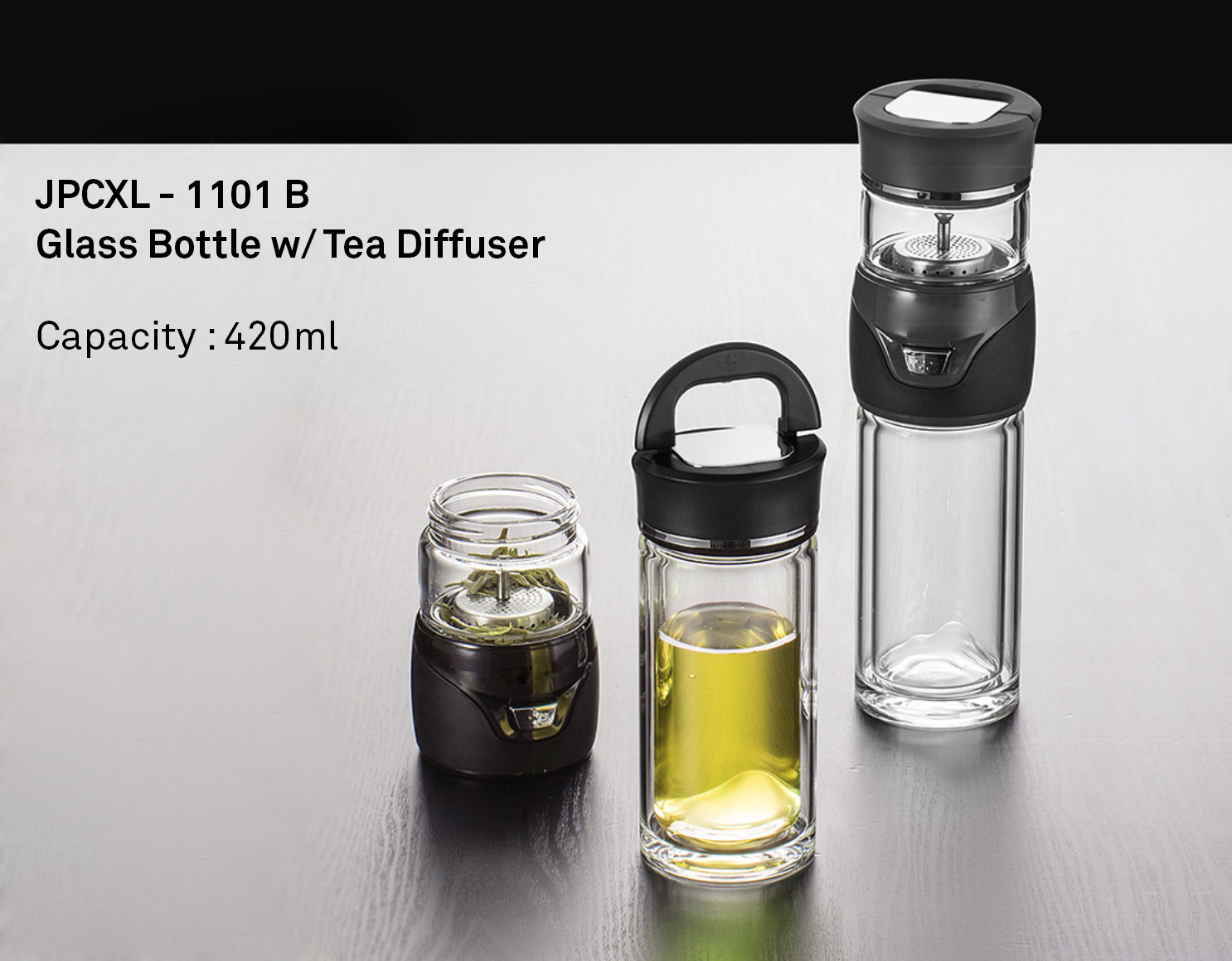 Glass Bottle w/ Tea Diffuser