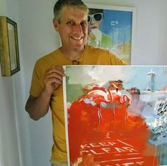It's a print of 'Flamingo Road' for Gwyn