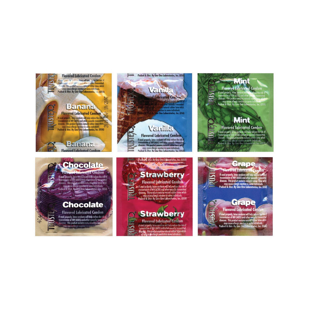 flavored condoms Trustex