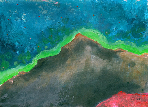 Truckee: Donner Summit Night, Landscape Painting