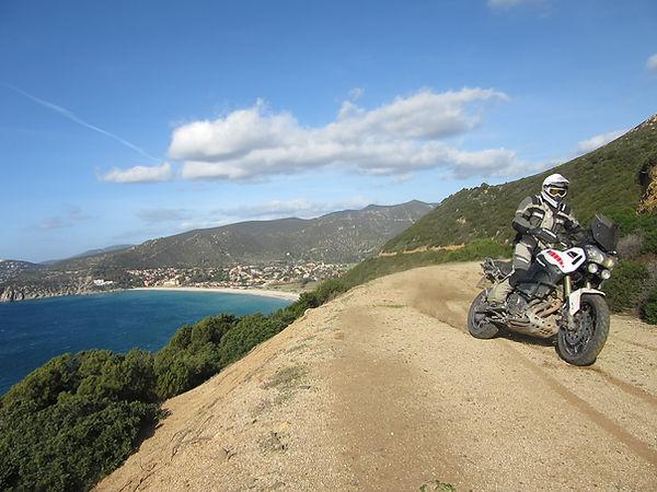 Sardegna off road in moto e il foulard bandana smotard