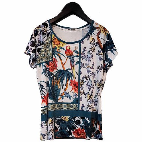 101 IDEES 鳥柄Tシャツ