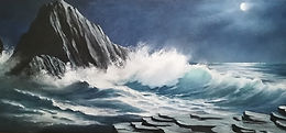 Learn to paint a seascape with oils