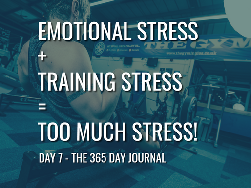 Day 7 – Emotional Stress + Training Stress= Too much Stress!