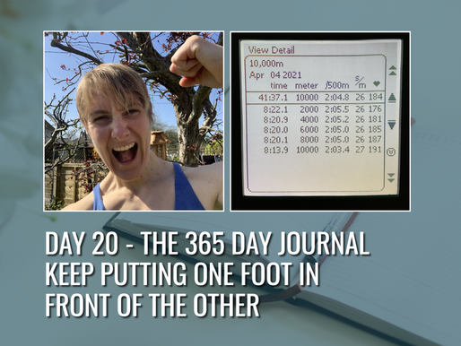 Day 20 – Keep Putting One Foot in Front of the Other