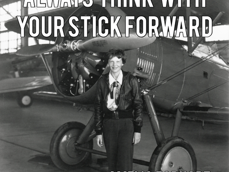 """Always think with your stick forward"""