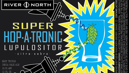 NEW 10.5% ABV Hazy Triple IPA: SUPER Hop-A-Tronic Lupulositor