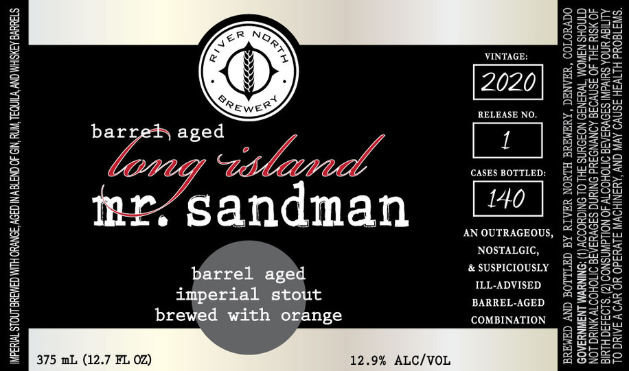 Barrel Aged Long Island Mr. Sandman: September 5th