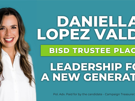 Daniella Lopez Valdez announces candidacy for BISD Board of Trustees Place 5