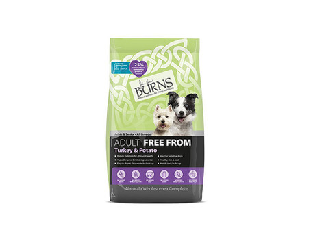 Burns Free From Adult Dog Food