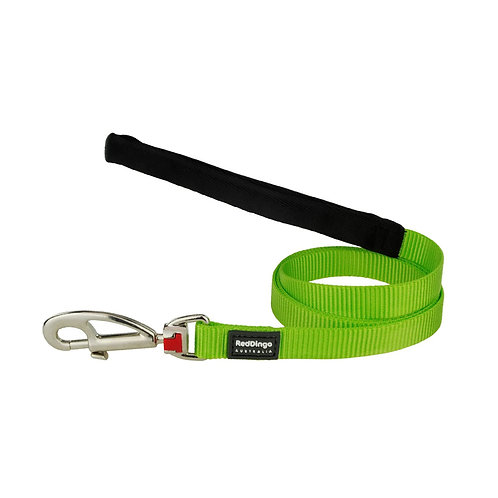Red Dingo Classic Green Dog Lead