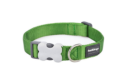 Red Dingo Classic Green Dog Collar