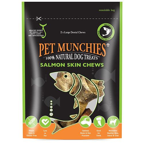Pet Munchies Large Salmon Skin Chews
