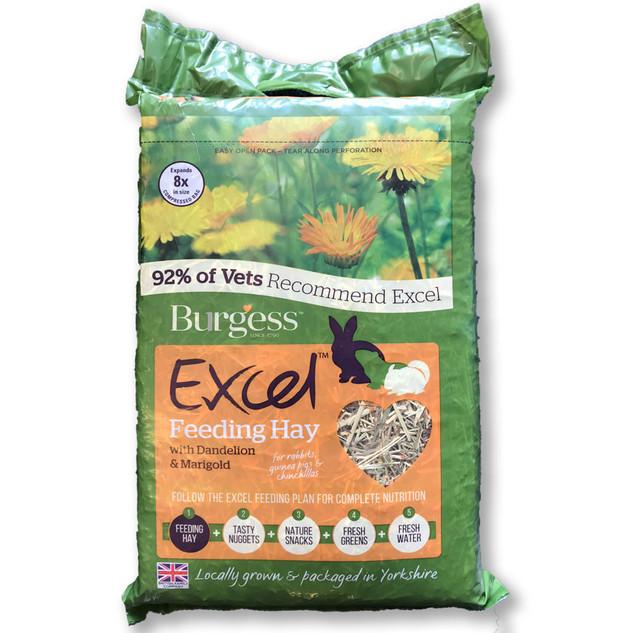 Burgess Excel Feeding Hay with Dandelion & Marigold
