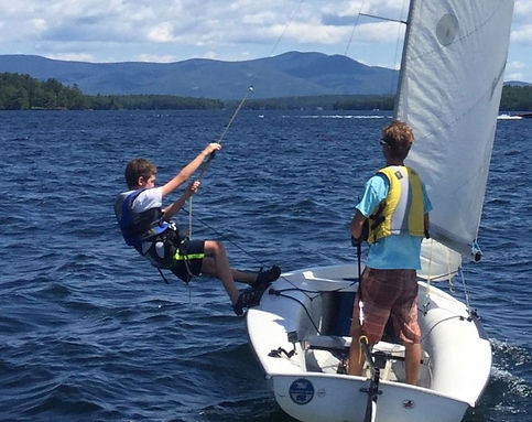 youth sailboat racing LWSA Lake Winnipesaukee