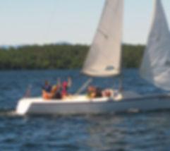 LWSA Sonar sailboat lesson