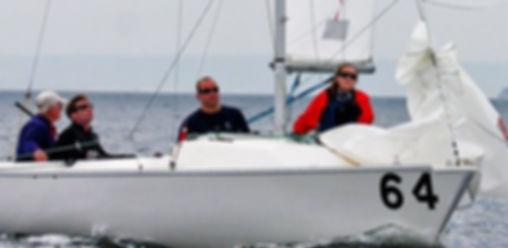 Adult sailing with LWSA on Lake Winnipesaukee