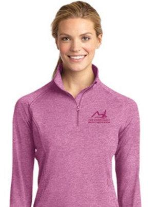 LWSA Ladies Performance Pullover Pink Quarter Zip