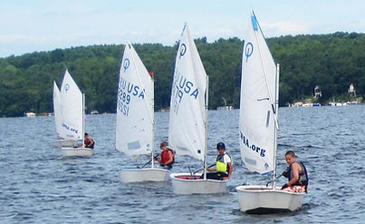 Opti sailboat race Lake Winnipesaukee LWSA