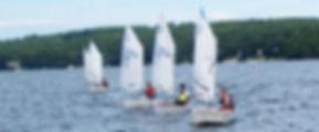 Opti sailboat racing LWSA Lake Winnipesaukee