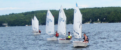 Opti sailboat racing LWSA Lake Winnipesaukee