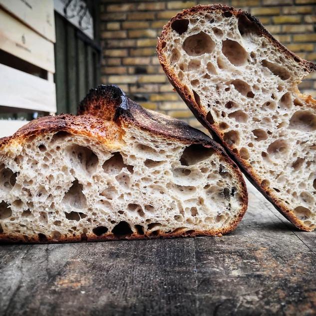 Økologisk surdejs hvedebrød