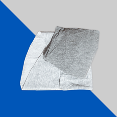 Trapo mixto gris prelavado (50% playera 50% sudadera)