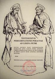 Testimonium San Pietro e Paolo - Roma.