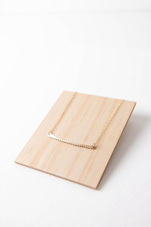 Dot Horizon Necklace | Gold Filled