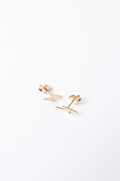 Tiny Bolt Earrings | Gold Filled