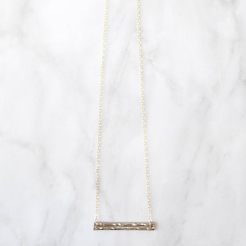 Double Horizon Necklace |  Sterling Silver/Gold Filled