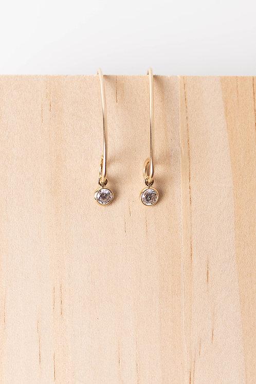 Gem Earrings | Gold Filled