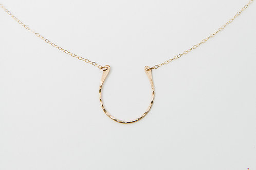 Horseshoe Necklace | Gold Filled