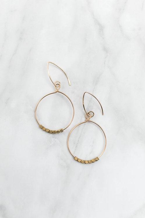 Dot Hoop Earrings | Gold Filled