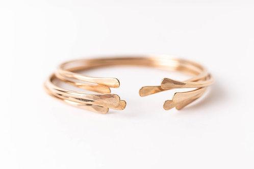 Crescent Cuff   Gold Filled