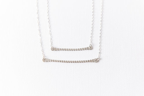 Dot Horizon Necklace | Sterling Silver