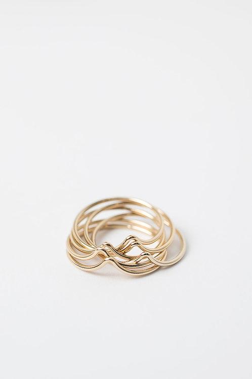 Wave Ring | Gold Filled