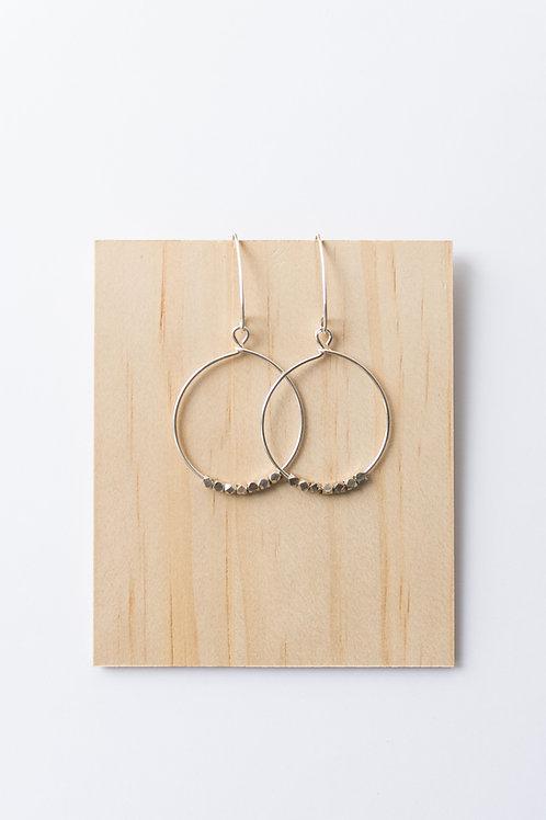 Dot Hoop Earrings | Sterling Silver