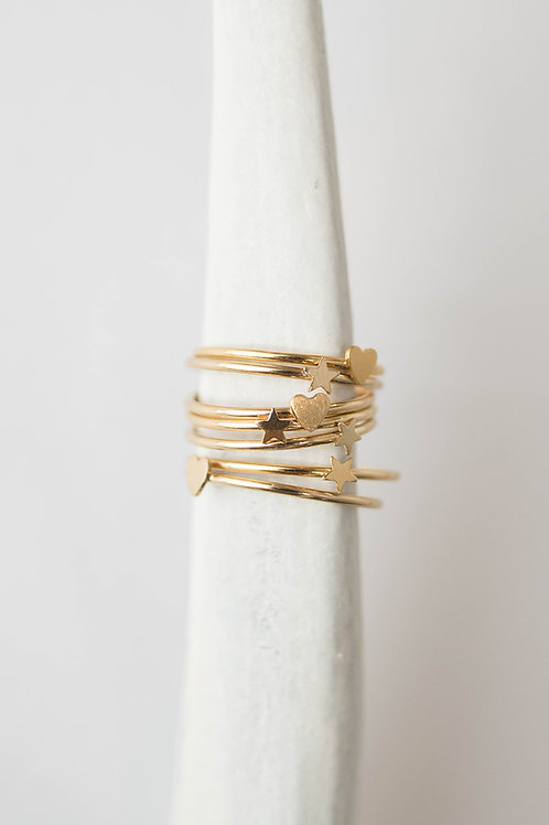 Tiny Heart Ring | Gold Filled
