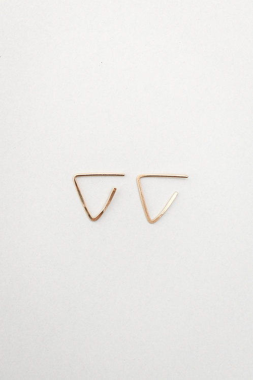 Triangle Stud Earrings | Gold Filled