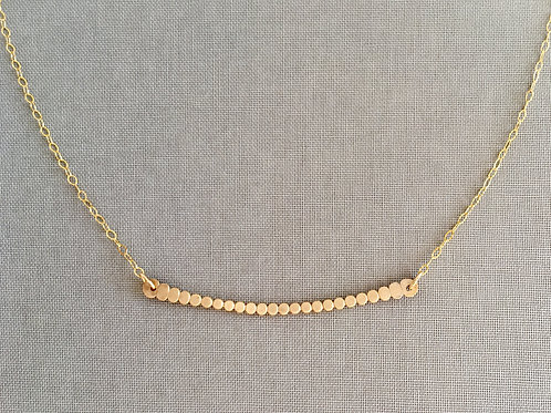 Dot Horizon Necklace | Gold Filled