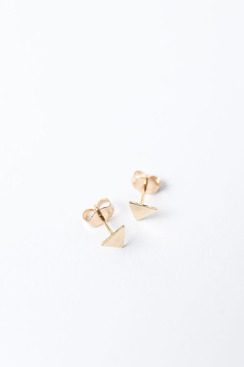 Tiny Triangle Stud Earrings | Gold Filled