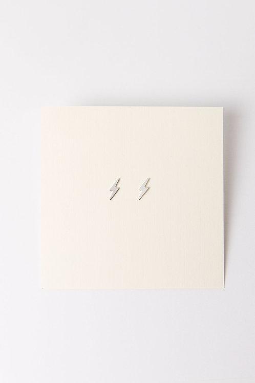 Tiny Bolt Earrings | Sterling Silver