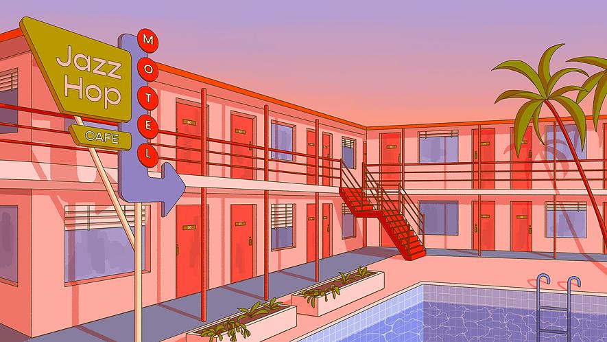 motel break.