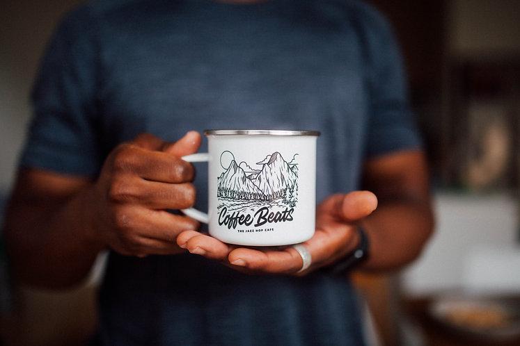 Coffee Beats Camping Mug