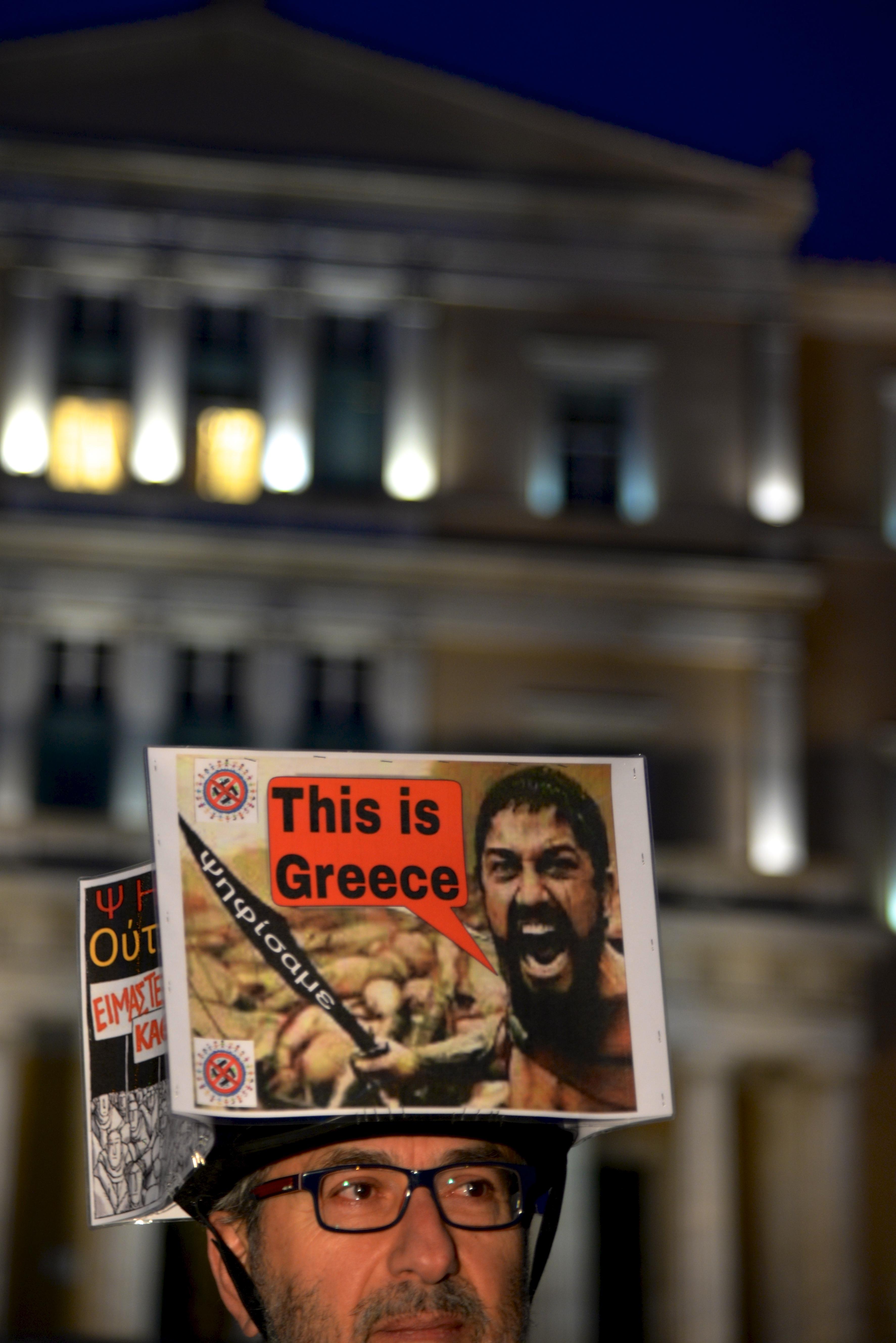 Manifestazione contro la Troika