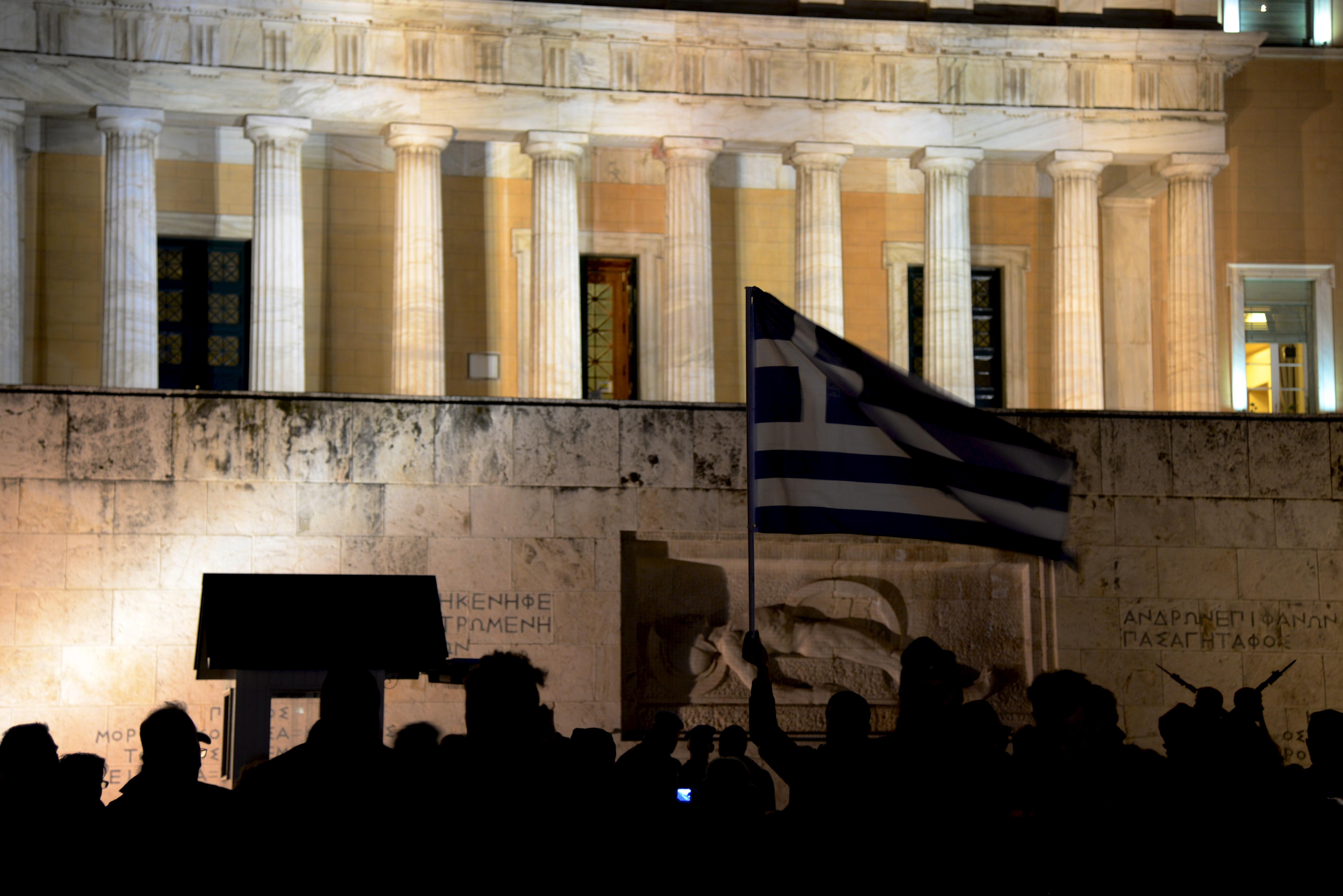 Davanti al parlamento di Atene