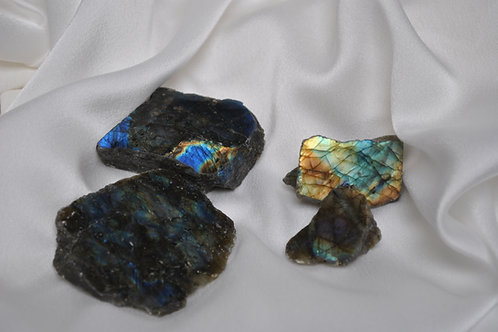 Semi polished pieces of labradorite